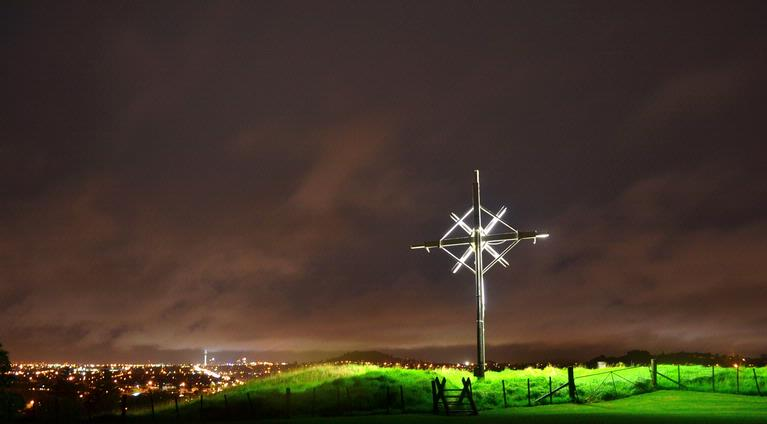 Taken on a rainy and windy night from the top of Mt Roskill