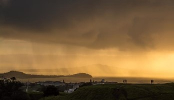 Dave Barker;Rain squall over the Waitemata