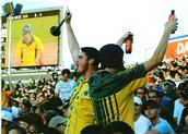 Tara Ginsberg; Cricket match   Eden Park 2005;Fans at Australia v NZ. Part of the A Bit of A Do exhibition.